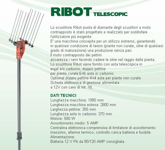 SCUOTIOLIVE AIMA: MOD. RIBOT TELESCOPIC